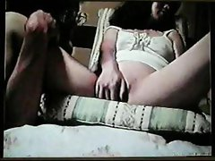 Dudes Asian wife Midori in homemade video rubbing her slit