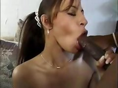 Hot slut with a drab tulip greases his black little birdy