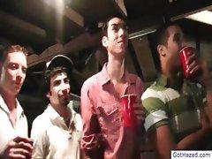Guys get gay hazed by drunk crowd