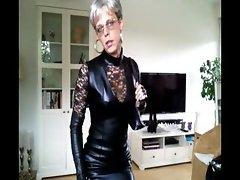 Sissy sexy leather dress 1