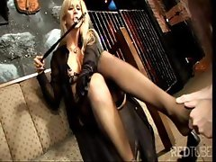 Good slut with a discerning piss hole takes orders from her mistress