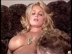 Cute busty blonde gets licked, gets banged, and then eats his cock