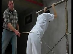 Nutritious concubine with an arch snapper gets caned by her master