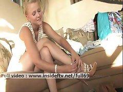 Liz _ Gorgeous amateur blonde massaging her ass and boobs