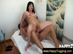 Asian Masseuse Fucks A Guys Brains Out