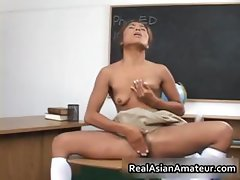 Lovely Asian student goes