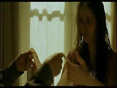 Leelee Sobieski is scenes from her movie showing some skin