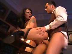 Totally hot Euro French maid fucked by big cock