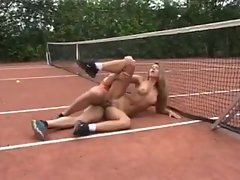 Tennis girl fucked by a horny athlete