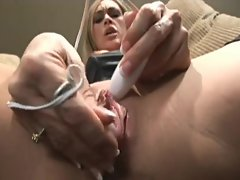 Close up as she masturbates and squirts