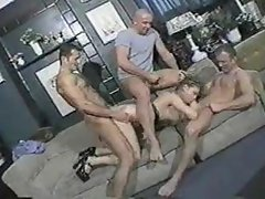 Group sex in a bar with slut
