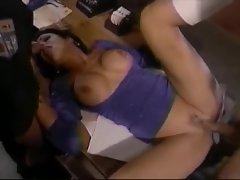Police station pounding with Jeanna Fine