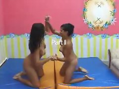 Brazilian girls practice facesitting fun