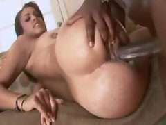 Big wet ass babe goes all black