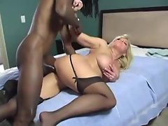 Big black cock drills the tempting blonde