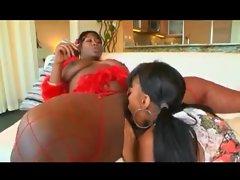 Fat black lesbian picks up a young slut