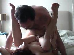Amateur redhead films a fuck scene