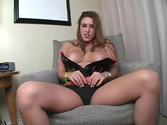 Busty chick wants to help you jerk off