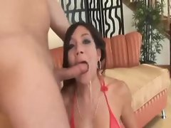 Asian deepthroat blowjob gets sloppy