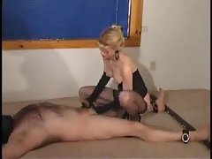 Mistress is not kind to his cock