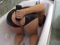 Girl takes enema of his piss