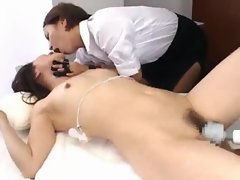 Fun-filled massage scene with Japanese girl