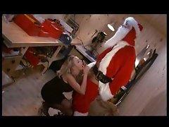 Santa bones her naughty pussy hole