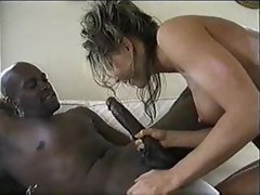 Black cock is monstrous and fucks her ass