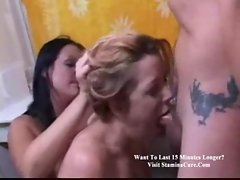 Ramming cock and making her gag