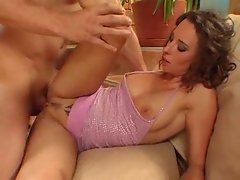 Little pink dress on slut getting nailed