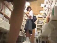 Lesbian fondling in bookstore