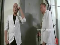 Clinic gay doctor in bondage rough sex