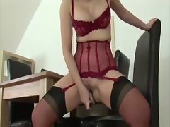 Horny mature solo stockings brit