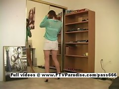 Kimber easy going teenage stunning schoolgirl dancing