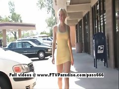 Kate easy going teenage blonde flashing in public