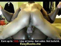 Amateur fucks hardcore at home