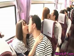 Funny real asian babes are takes a bus tour