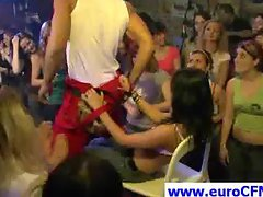 Horny party chicks have fun with stripper