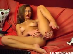 beautiful blonde fingering her hot pussy 3 .flv