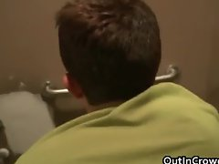 Guys fucking and sucking in a bathroom part3