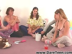 Girls playing truth or dare sex game