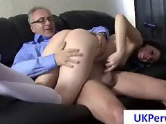 Whore gets nailed by an old dude