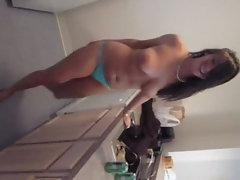 Chubby Big Titted Girl Dances and Sucks