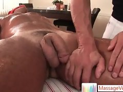 Dude getting welcome surprise when massaged By Massagevictim part3