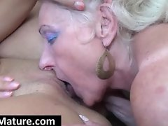 Mature bitch gets slit licked