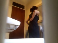 Wife&amp,#039,s caught flashing her big ass in nylons on hidden cam