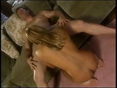 Curvy blonde gets her pussy licked from behind
