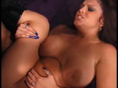 Sexy brunette nice tits bubbly ass anal sex by moster of cock on the couch