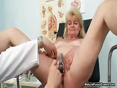 Horny doctor abusing a grandma part4