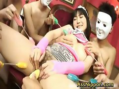 Super horny Japanese babes fucking part1